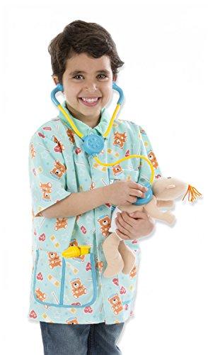 Melissa & Doug Pediatric Nurse Role Play Costume Set (8 pcs) - Includes Baby Doll, Stethoscope
