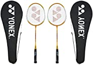 Yonex GR 303 Badminton Racket 2018 Professional Beginner Practice Racquet with Face Cover Steel Shaft - Pack o