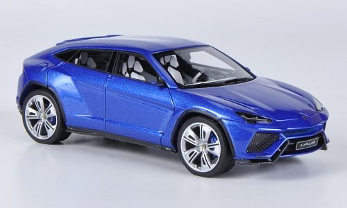amazoncom lamborghini urus metallic blue 2012 model car ready made look smart 143 look smart toys games - Lamborghini Urus Blue