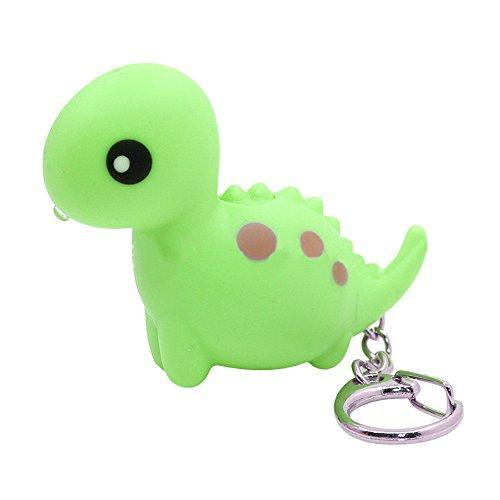 Cartoon Keychain - Catnew Cartoon Dinosaur Bear Train kawaii LED Light Up Sound Keychain Key Ring Bag Wallet Pendant Ornament