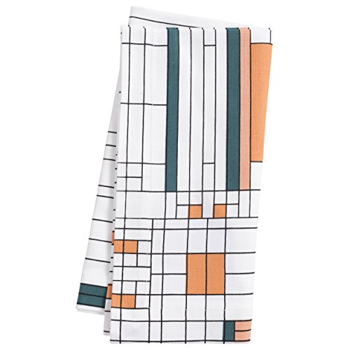 KAF Home Frank Lloyd Wright Printed Dinner Napkin 20 x 20-inch 100-Percent Cotton Set of 4 (Oak Park) by KAF Home