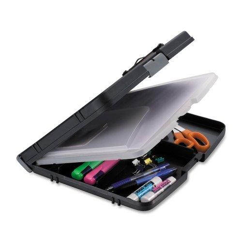 Wholesale CASE of 10 - Officemate Triple File Clipboard Storage Box-Triple File Clipboard Storage Box, 10-3/4''x13''x2'', Black