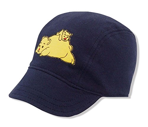 Keepersheep Baby Cargo Cap Reversible Unisex Infant Baseball Hat, Baseball Cap Hat With Shell Embroidery, 100% Cotton Washed(18-24 Months, Navy Blue - Shell Embroidery
