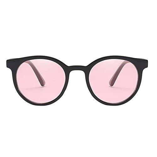 Glasses Eyewear Plein Classique Soleil Air Ronde Deylaying Rétro Rose Protectrices Lunettes Polarisé Uv uv Anti Protection Petite De Élégant Noir SadRwTfq