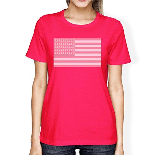 Femme shirt Vif Taille T 365 Printing Manches Rose Courtes Unique wgSXXxA