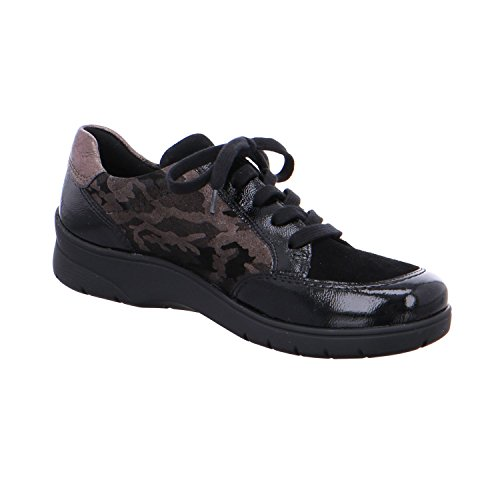 Flats up ara Black Lace Women's wxtUACqgp