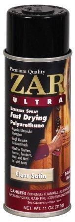 ZAR 34107 Spray Satin Ultra Exterior Polyurethane Spray, 11-Ounce by ZAR