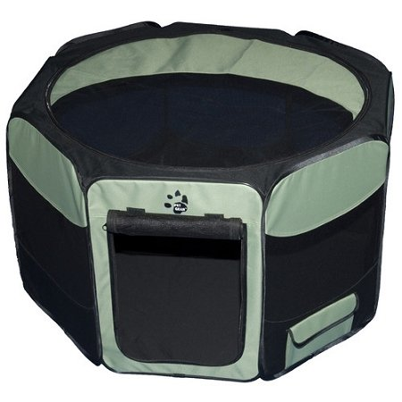 Travel Lite Soft Sided Pet Pen 36in Sage (Pet Gear Travel Lite Dog Crate)