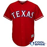 Outerstuff Texas Rangers Word Mark Red Youth Cool Base Alternate Replica Jersey (Medium 10/12)