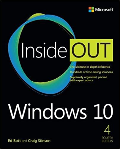 Windows 10 Inside Out 4rd Edition, cover