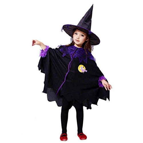 Toddler Halloween Costumes Ideas 2016 (eZEO Toddler Kids Baby Girl Halloween Clothes Costume Dress+Hair Hoop+Bat Wing Outfit (100, Black))
