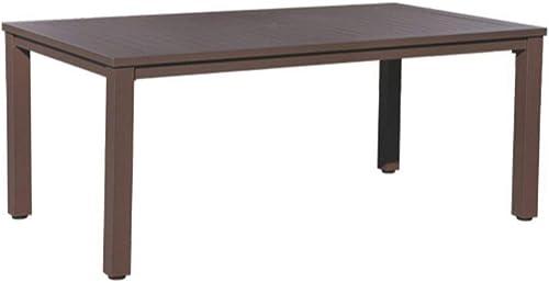 Courtyard Casual 5305 Santorini Collection 70″ Rectangle Aluminum Dining Table