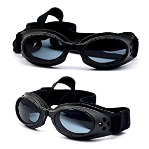 Dog Sunglasses Eye Wear UV Protection Goggles Pet Fashion Black Small