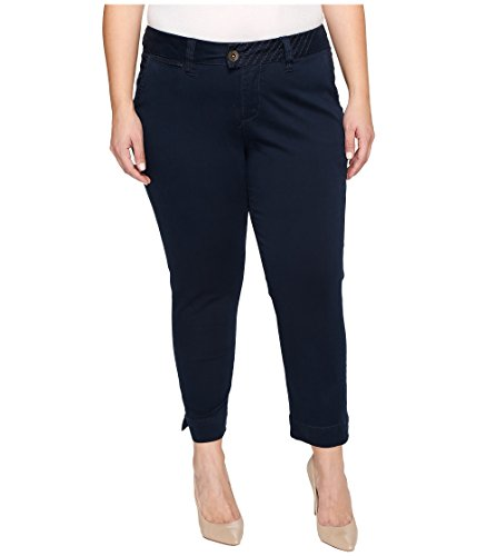 Jag Jeans Plus Size Women's Plus Size Creston Ankle Crop in Bay Twill Nautical Navy Pants (Nautical Crop)