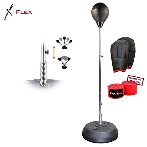 MaxxMMA Speed-Adjustable Freestanding Reflex Bag + 180