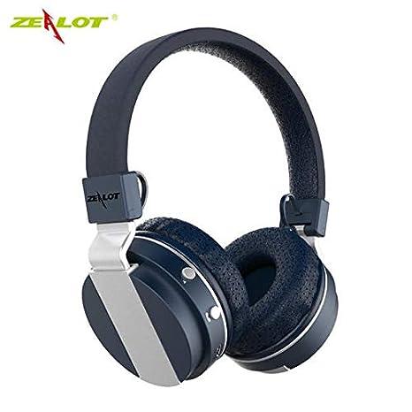 B17 - Auriculares inalámbricos con micrófono para Radio FM y Bluetooth 4.0 Azul: Amazon.es: Electrónica