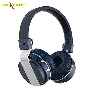 B17 - Auriculares inalámbricos con micrófono para Radio FM y Bluetooth 4.0 Azul