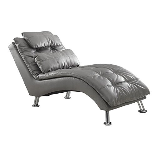 Coaster 550029 Home Furnishings Chaise, Grey