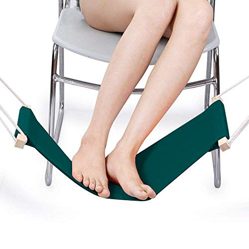 DMcore Canvas Foot Rest Hammock, Adjustable Mini Foot Rest Stand Under Desk for Home and Office (Green) by DMcore