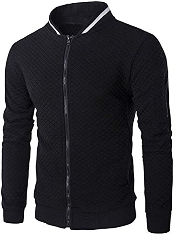 Yczx męska kurtka przejściowa, styl casualowy, styl bejsbolowy, lekka kurtka z długim rękawem: Odzież