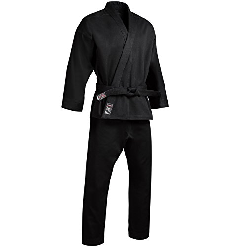 (Hayabusa Cotton Karate Gi Uniform (Black, 2))