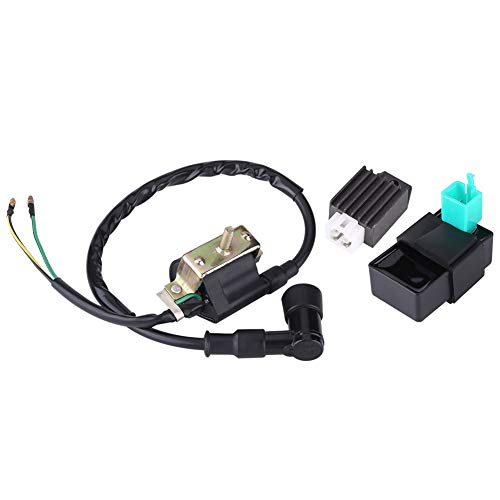 Motorcycle Ignition Coil with Regulator Rectifier-Ignition Coil CDI Regulator Ignition System Induction Coil for 110CC 125CC 140CC Trail Bike Dirt Bike Quad ATV: