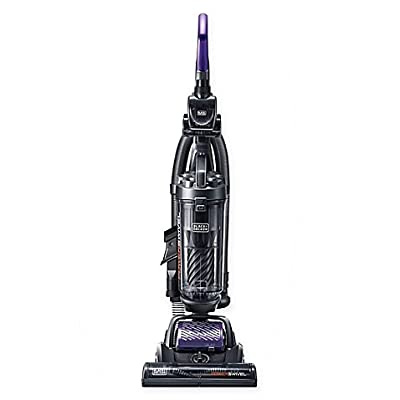 Black & Decker POWERSWIVEL Complete Upright Vacuum in Black/Red