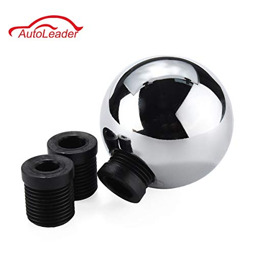 Shifter Chrome Ball - Universal M8 M10 M12 Heavy Weighted Chrome Round Ball Manual Shift Shifter Gear for VW