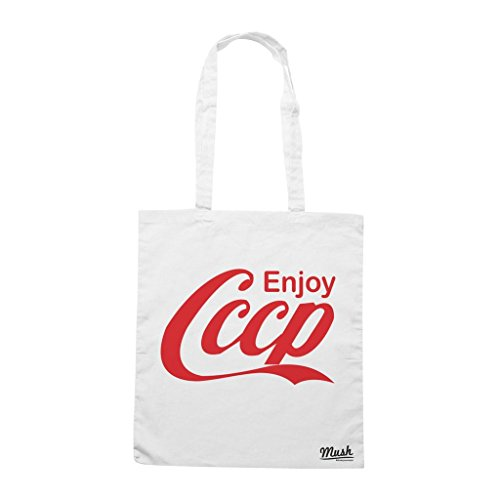 Borsa Enjoy Cccp - Bianca - Politic by Mush Dress Your Style