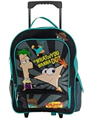 Phineas and Ferb Rolling Backpack - Large Phineas and Ferb Wheeled Backpack