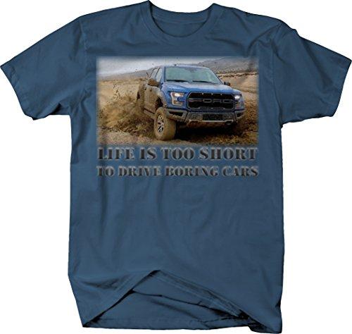 OS Gear Life is Too Short Truck - Ford F150 Raptor SVT Mud Offroad Tshirt - XLarge