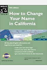 How to Change Your Name in California (9th Edition) Paperback