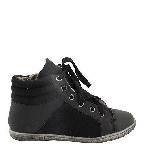 Unbekannt - Zapatillas altas Mujer , color negro, talla 37 EU: Amazon.es: Zapatos y complementos