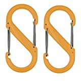Nite Ize S-Biner Plastic Size-0 Double Gated Carabiner, 2-Pack