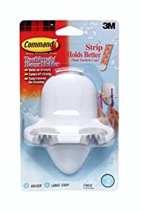 3M Command 17601B Toothbrush/Razor Holder with Water-Resistant Strips