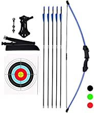 KESHES Archery Recurve Bow and Arrow Youthbow Set - Beginner Bows for Outdoor Hunting – Bow and Arrows Set wit
