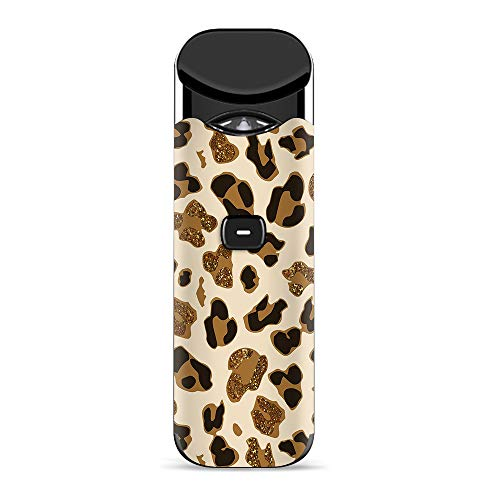 (IT'S A SKIN Decal Vinyl Wrap for Smok Nord Pod System Vape Sticker Sleeve Cover/Brown Leopard Skin Pattern)