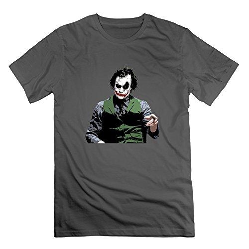 DeMai Mens 100% Cotton Batman The Joker The Dark Knight 1 Shirt M DeepHeather