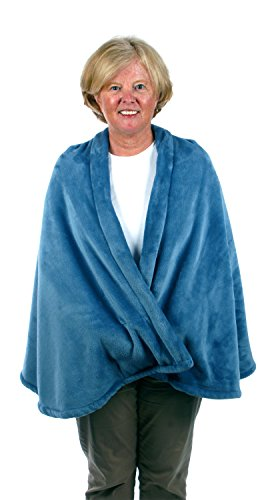 Granny Jo Products Women's Fleece Cape-Wedgwood, Wedgewood Blue, Small/Medium