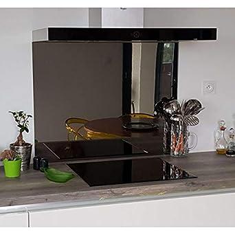 crédence Composite espejo antracita – altura 70 cm x 130 cm Ancho ...