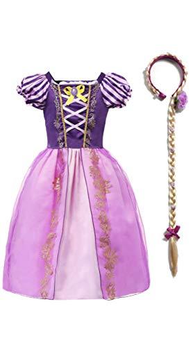 (Rapunzel Girls Costume Dress and Headband,)