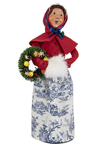 Byers' Choice Colonial Man w/Wreath Caroler Figurine from The Colonial Williamsburg Collection #5195 (New 2019) (Williamsburg Christmas Wreaths)