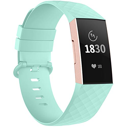 Adepoy Compatible with Fitbit Charge 3 Bands/Fitbit Charge 4 Bands for Women Men, Adjustable Replacement Wristbands for Fitbit Charge 3 SE and Fitbit Charge 4