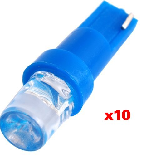 Dcolor 10 T5 17 18 58 Wedge Dashboard Blue LED Light Bulb Lamp