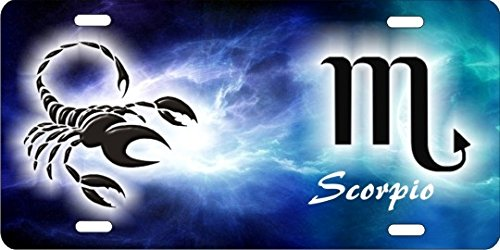 Scorpio Personalized Novelty Front License Plate Astrology Zodiac Horoscope Sign Decorative Custom Car Tag