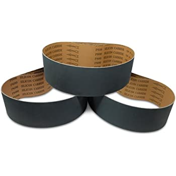 8 Pack 3 X 18 Inch 600 Grit Silicon Carbide Sanding Belts