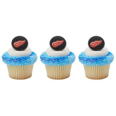 Detroit - Anillos para cupcakes con alas rojas