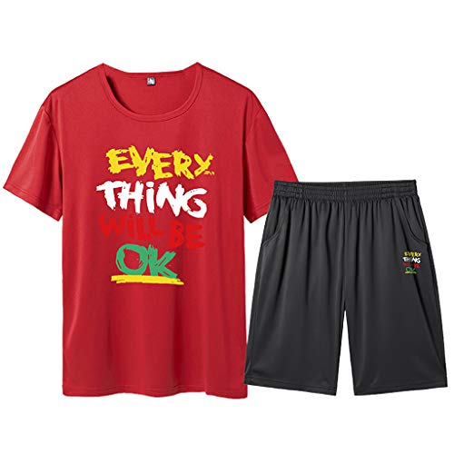 2019 Tracksuit for Men,NEWONESUN Short Sleeve T-Shirt with Shorts Loungewear for Men Mens Pjs Big and Tall