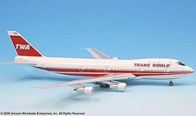 TWA Trans World Airlines 80s Bold Titles Boeing 747-100 Airplane Miniature Model Diecast 1:200 Part# A012-IF741008