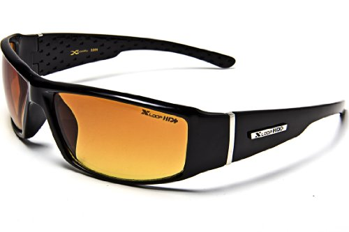 Black HD Vision Lens Driving Sunglasses Clear -